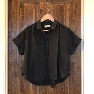 Madewell denim hilltop shirt in lunar wash, XL